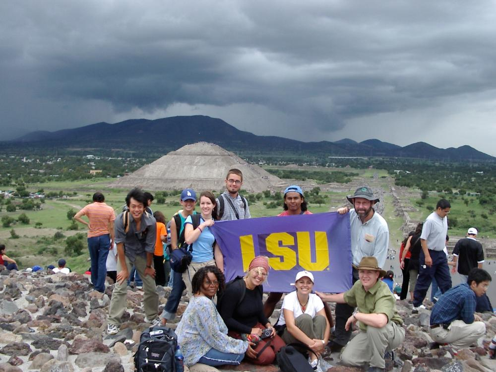 LSU in Mexico pyramid