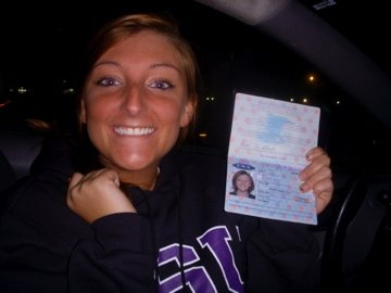 student with passport